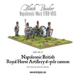 Napoleonic: British Horse Artillery 6-pdr Cannon