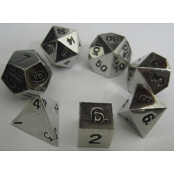 Metallic Dice: Silver (Solid Metall)