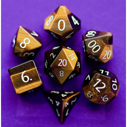 Metallic Dice: Tiger's Eye (7-die set)