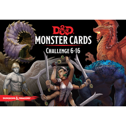 D&D 5.0: Monster Cards - Challenge 6-16