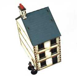 28mm Three Storey Detached House (Painted)