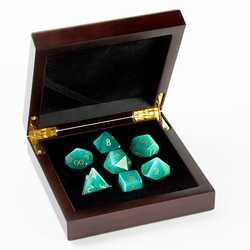Stone Dice: Cats Eye - Aqua 7-die Set