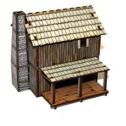 28mm New France Loft Cabin (Painted)