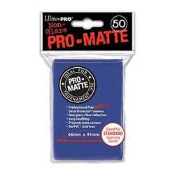 Ultra Pro Deck Protector Sleeves Pro-Matte Blue (50)