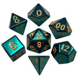 Metallic Dice: Turquoise (Solid Metall)