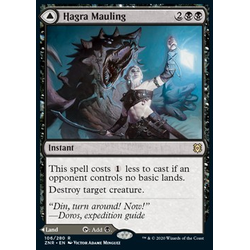 Magic löskort: Zendikar Rising: Hagra Mauling // Hagra Broodpit
