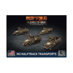 American M3 Halftrack Transport Platoon