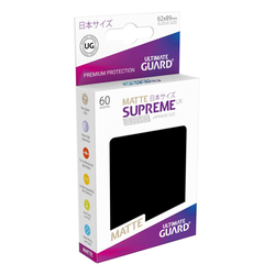 "Card Sleeves Japanese size ""Supreme UX"" Matte Black 62x89mm (60) (Ultimate Guard)"