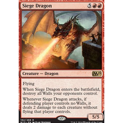 Magic löskort: M15: Siege Dragon (Foil)