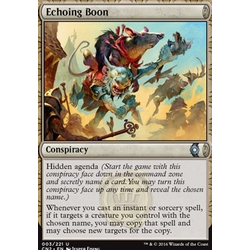 Magic löskort: Conspiracy: Take the Crown: Echoing Boon