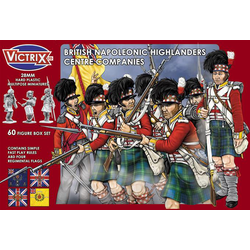 Victrix 28mm:  Napoleonic Highland Infantry Centre Companies