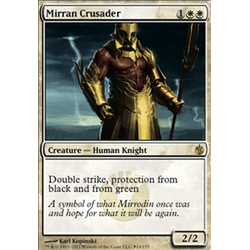 Magic löskort: Mirrodin Besieged: Mirran Crusader (Buy-a-box Promo Foil)