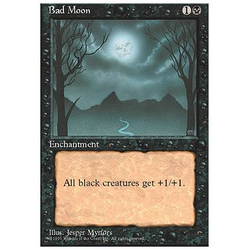 Magic löskort: 4th Edition: Bad Moon