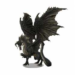 Icons of the Realms: Adult Black Dragon Premium Figure