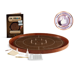Crokinole Tournament Set (walnut/cherry)
