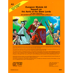 AD&D: A3, Assault on the Aerie of the Slave Lords (1981)