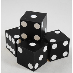 Cancelled Casino Dice Black, 20mm