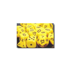 Opaque: Yellow/black (36-dice set)