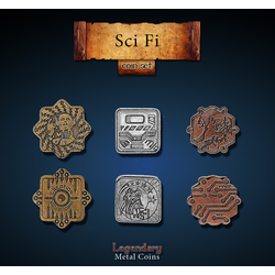 Metal Coins Sci-Fi (24 st)