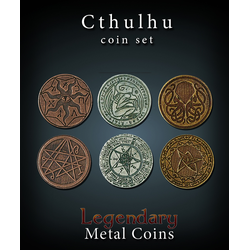 Metal Coins Cthulhu (24 st)