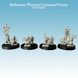 Barbarians Warriors Command Group (8)