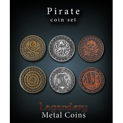 Metal Coins Pirate (24 st)