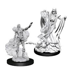 Nolzur's Marvelous Miniatures (unpainted): Lich & Mummy Lord
