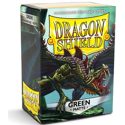 Dragon Shield Sleeves - Standard Matte Green (100 ct. in box)