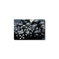 Opaque: Black/white (36-dice set)