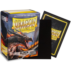 Dragon Shield Sleeves - Standard Non Glare Matte Black (100 ct. in box)