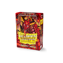 Dragon Shield Sleeves - Japanese Size Matte Crimson (60 ct. in box)