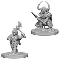 Nolzur's Marvelous Miniatures (unpainted): Dwarf Female Barbarian