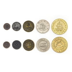 Metal Coins Pirate Ships (50 st)