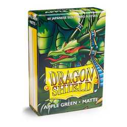 Dragon Shield Sleeves - Japanese Size Matte Apple Green(60 ct. in box)