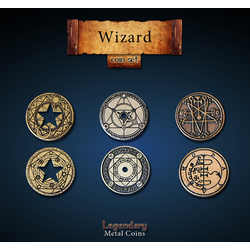 Metal Coins Wizard (24 st)