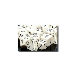 Opaque: White/black (12-die set)