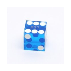 Blue Cancelled Casino dice, 19mm (1 st)