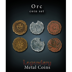 Metal Coins Orc (24 st)