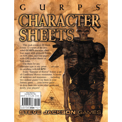 GURPS: Character Sheets + Cardboard Heroes