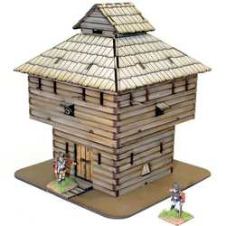 28mm Log Timber Blockhouse (Painted)