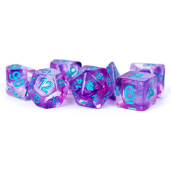 Metallic Dice: Unicorn Resin Polyhedral 7-Dice Set - Violet Infusion