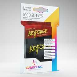 GameGenic Keyforge Logo Sleeves Black (40)