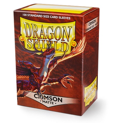 Dragon Shield Sleeves - Standard Matte Crimson (100 ct. in box)
