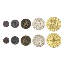Metal Coins Middle Ages (50 st)