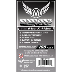 "Card Sleeves ""Magnum"" Clear 61x112mm (100) (Mayday)"