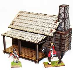 28mm Settlers Log Timber Cabin 1