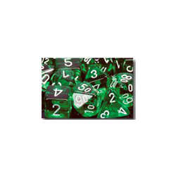 Translucent: Green/white (36-dice set)