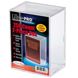 Ultra Pro Card Storage Box Clear 250 Count