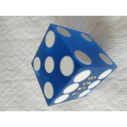 Blue Sanded Cancelled Casino dice, 20mm (1 st)