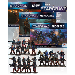 Stargrave: Nickstarter 3 Boxes, one each of The Crew, The Mercenaries & The Troopers - Boka senast 25:e april